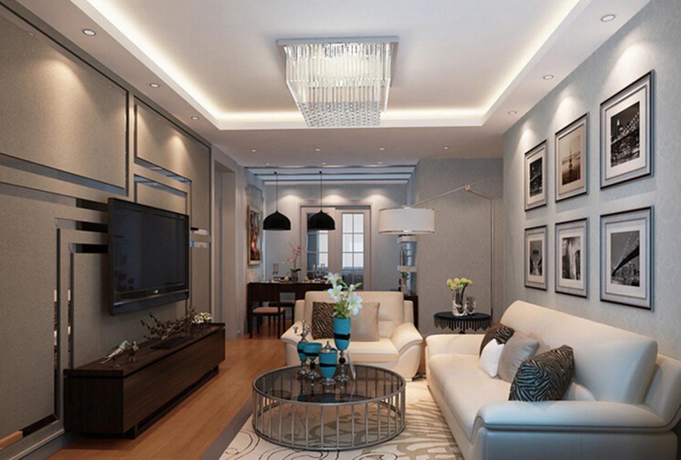 首开香溪郡-三居室-105.00平米-客厅装修效果图-2016年小户型家装案