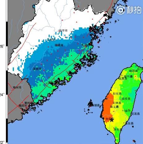 台湾台南附近发生6.7级地震