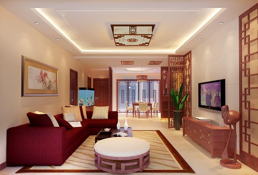 80平米-客厅装修效果图