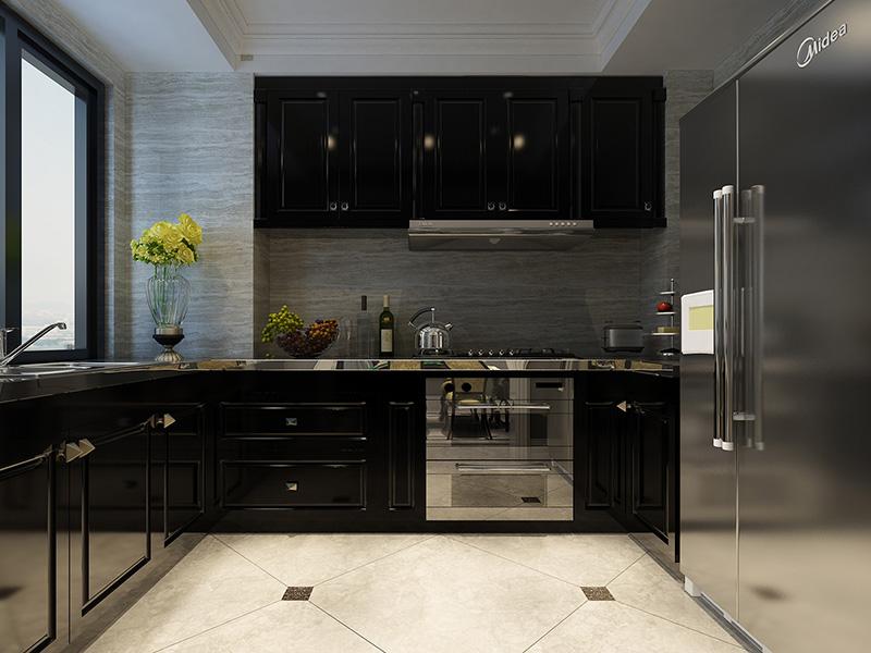 80平米-厨房装修效果图