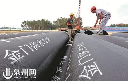 金门自大陆引水工程海底管道开建