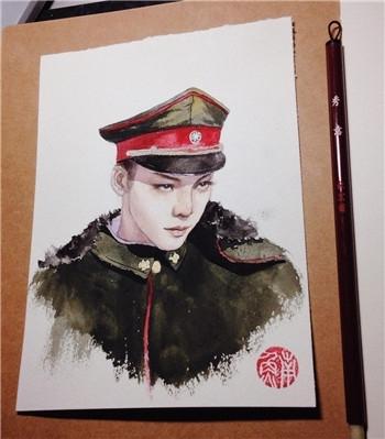 大学生手绘老九门 陈伟霆和张艺兴的美颜帅到醒