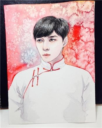 大学生手绘老九门 陈伟霆和张艺兴的美颜帅到醒(2)