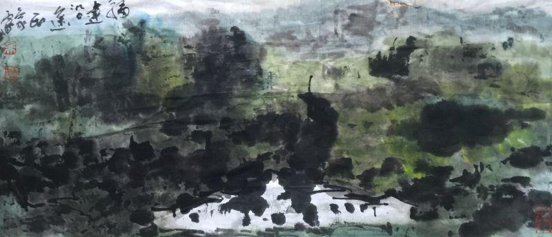 中国水墨画泰斗吴立民驻闽创作 大美福建系列作品赏析