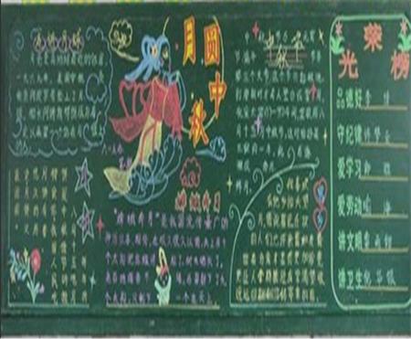 中秋节手抄报黑板报内容精选 关于中秋节的来历和传说-中秋节黑板报