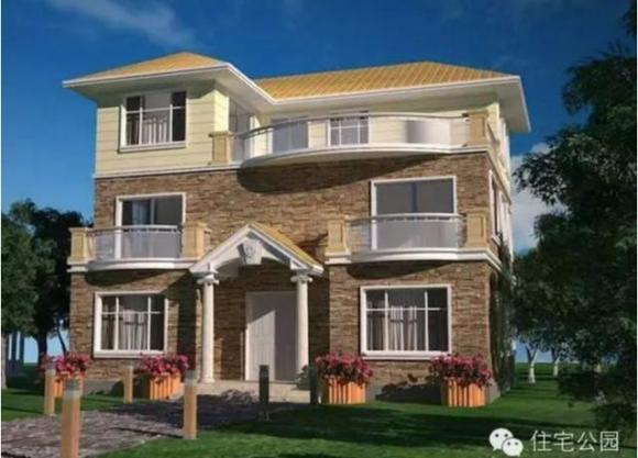 农村自建房两层半80-90平方设计图展示