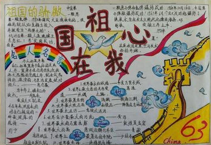 手抄报资料图片花边设计大全 国庆节祝福语精图片