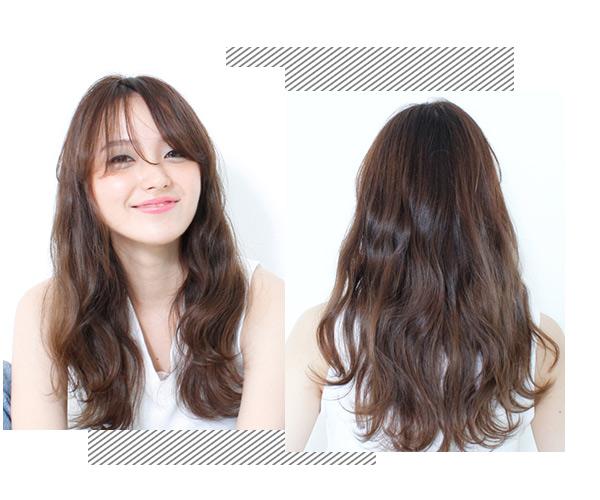 齐刘海绝对是减龄的法宝,这款齐刘海烫发发型绝对可以让你看起来
