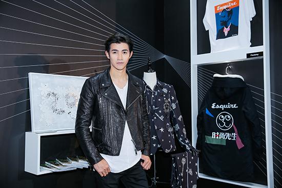 李子峰出席《时尚先生》活动 酷帅皮衣展型男魅力