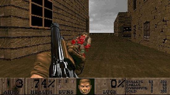 《毁灭战士II》Mod   在这款游戏模组将《毁灭战士》的背景改造成西部风格地图,有酒吧、秃鹫和对电影《黄金三镖客》主题的经典重现。游戏中玩家通过键盘操作,在充满情趣的老旧西部街区中穿行,难度很高。这是一款《毁灭战士》粉们必玩的游戏。
