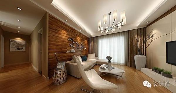 木地板 贴到墙上的效果