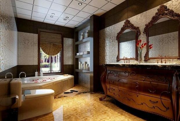 别墅洗手间装修布置及效果图(2)