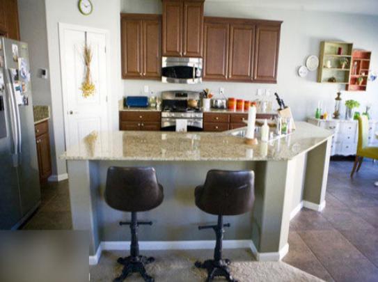 厨房大理石吧台图片和效果图(2)