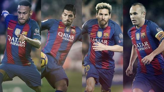 巴萨四将入围2016年国际足联最佳球员23人候