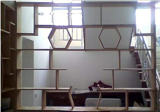 木工做的隔断柜效果图_木工隔断装修效果图