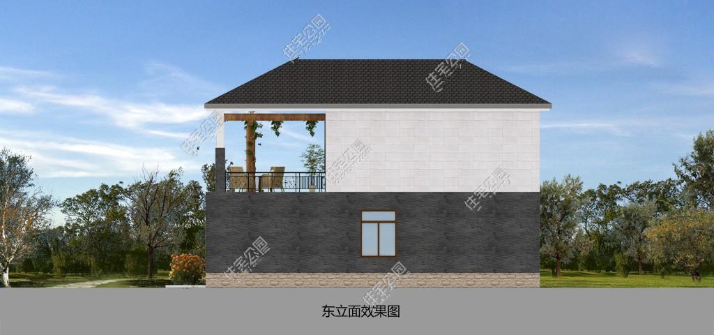 经典农村三合院 含中式堂屋 经久不衰!有图纸哦(2)