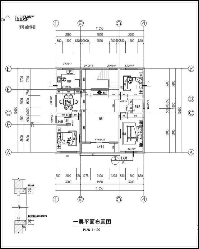 设计图_90平方米房屋设计图_100平方房屋设计图_二层
