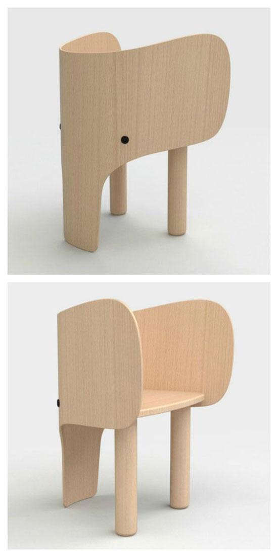 热点 正文    名为大象椅的设计作品,大象的鼻子成了椅子腿,耳朵成了