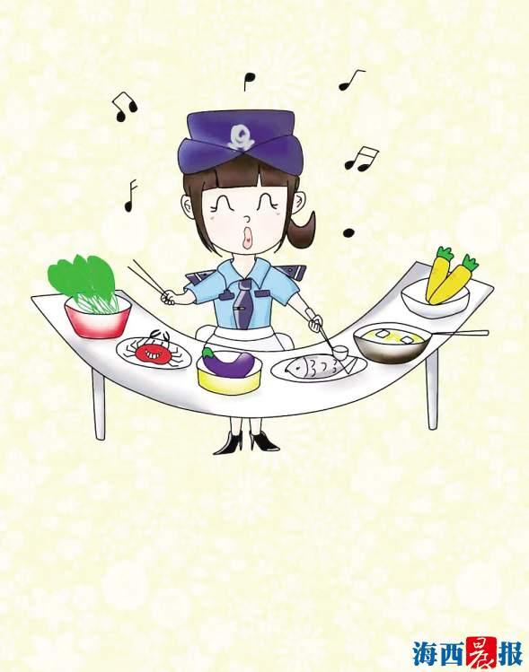 """""""80后""""女警手绘漫画记录工作瞬间 创作""""鹭小营""""萌警形象"""