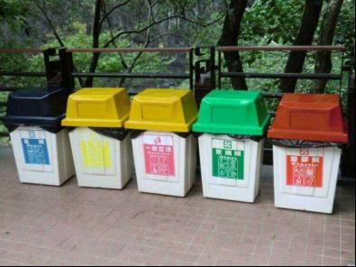 台湾的分类垃圾桶.网络图.图片