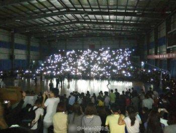 有数千人观看篮球赛的现场突然停电