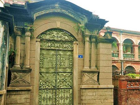 欧式别墅照壁图片