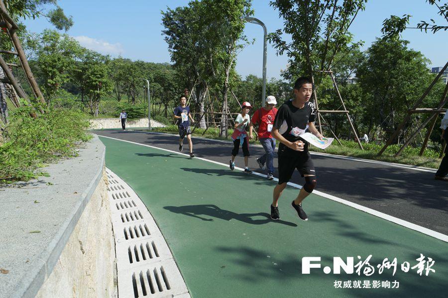 福州仓山全民健身运动会定向越野赛在飞凤山奥