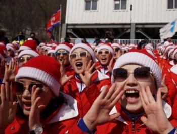 朝鲜啦啦队现身高山滑雪赛场
