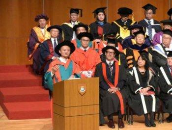 马云获颁香港大学名誉社会科学博士