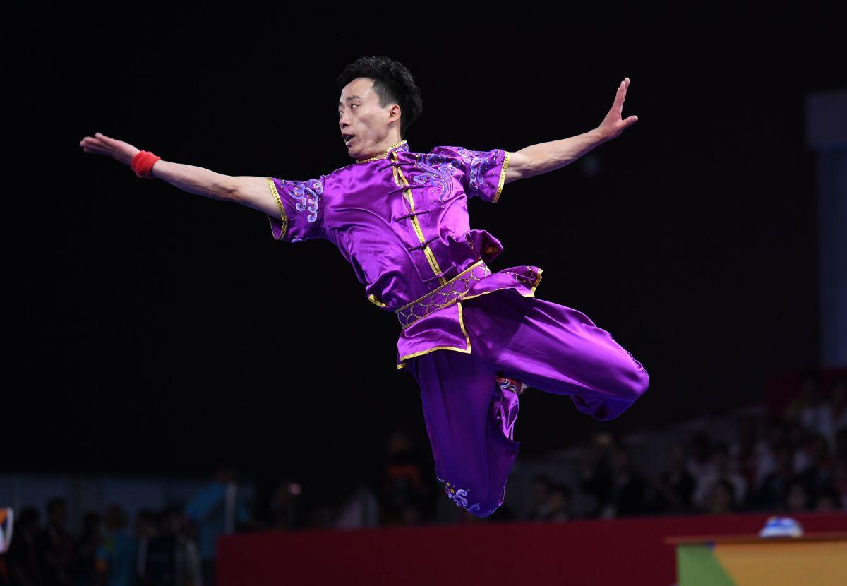 雅加达亚运会首金诞生 中国选手孙培原长拳夺冠