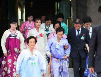 韩朝离散家属团聚活动第二天结束