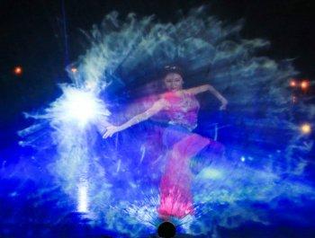 湄洲岛《妈祖》3D水幕秀震撼光影