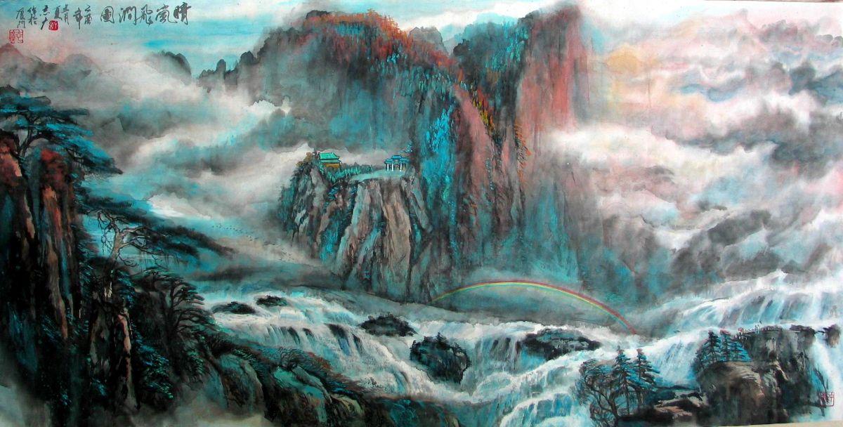 ——许一川山水作品赏析      中国绘画历史悠久,博大精深,并以其独有的艺术魅力与分科区别于西方绘画,可谓是东方绘画的杰出代表。其中的山水画,起始于隋唐,成就于五代,发展于两宋,成熟于元、明、清,一脉相承至今。两千多年来,中国的山水画领域名家辈出,名作浩若烟海。它们都是中华民族宝贵文化的遗产,也是对世界文明的卓越贡献。