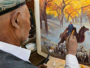 60年来,他用1.5万幅画绘新疆