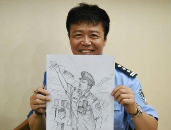 乘警手繪漫畫 記錄三十年從警生涯