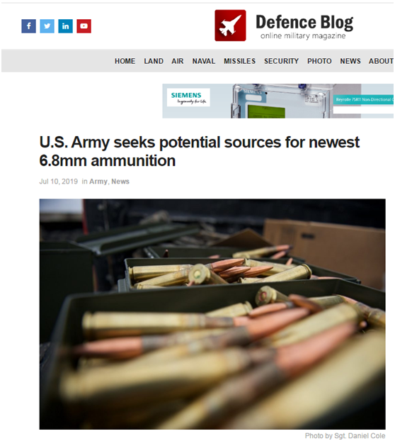 美国陆军要搞大事?未赴台个人游试点城市来步枪要创新6.8毫米弹药