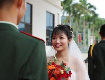 軍旗為證 你嫁給愛情的樣子真美!