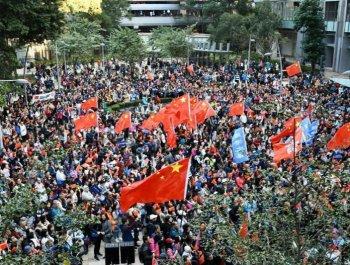 數千香港市民7日參與愛國護港撐警活動