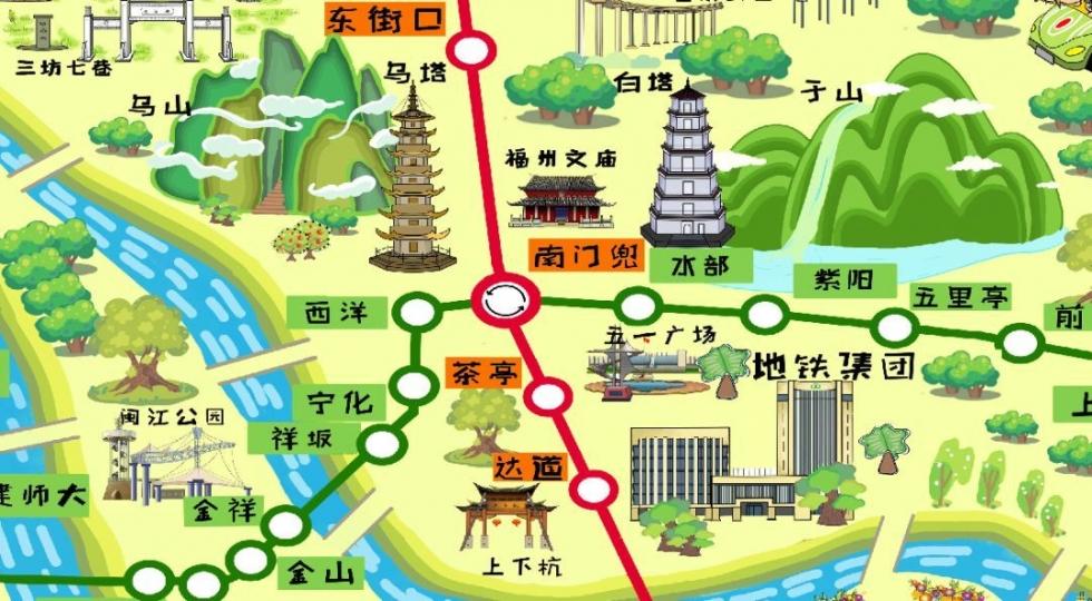 福州地铁手绘地图来了!_福州新闻_福建_新闻