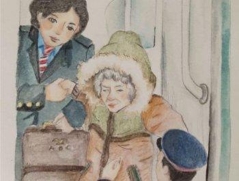 插画里的春运故事