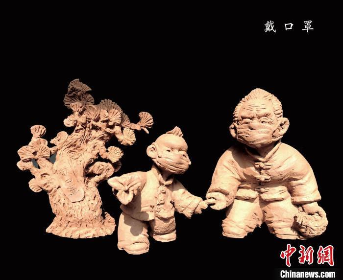 """泥塑娃娃""""戴""""口罩 山西非遗""""云课堂""""激活传统文化"""