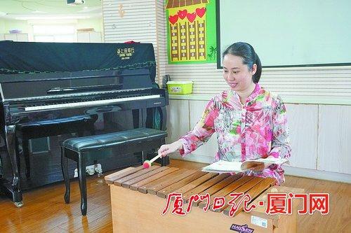 《【摩杰平台怎么注册】厦门市道德模范叶海珍:扎根特殊教育 用音乐为孩子带路》