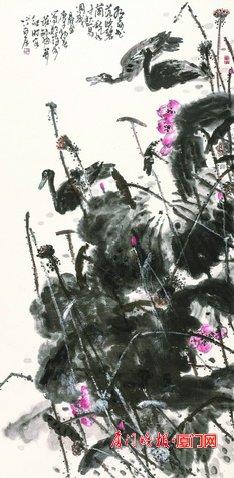 《【摩杰平台注册网址】8位写意画家鹭岛展出40余幅作品》