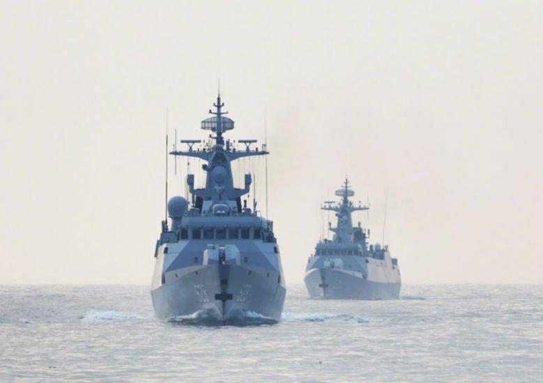 直击南部战区海军某护卫舰支队海上训练