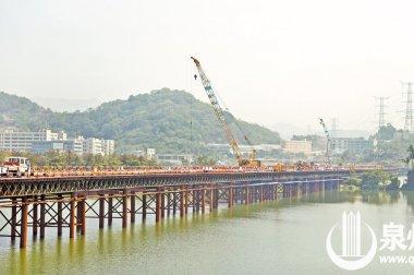 省重点项目武荣大桥钢栈桥全线贯通