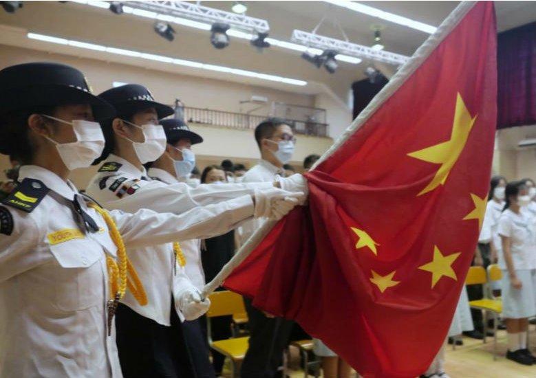 """我是中國人——香港學生的新學年第一""""課"""""""